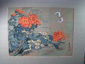 "Hui-Chi Mau Chinese Artist ""Pair Of Butterflies"" Original Gouache Painting 16"" x 12 """
