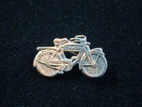 1930's Miniature Schwinn Bicycle Advertising Pinback 23mm x 11mm