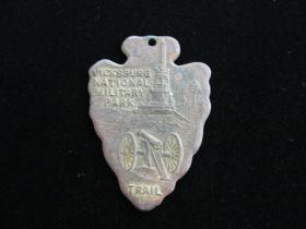 Vintage Boy Scout Vicksburg National Military Park Trail Medal Without Ribbon