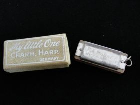 My Little One Charm Harp Harmonica Made By F. A. Rauner of Germany