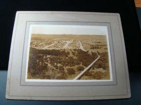 "1890's Marfa Texas Original Cabinet Photograph 7"" x 5"" Town View Rare!!"