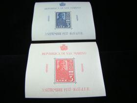 San Marino Scott #186-187 Set Sheets Of 1 Mint Never Hinged