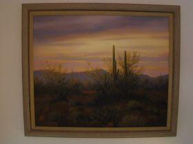 """David Flitner 1995 20 X 24 Original Oil On Canvas """"Desertscape"""" Signed & Framed"""