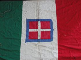 Italian Wall Banner Sardinia With Arms of Savoy Approx. 38 Inches Tall 68 Wide