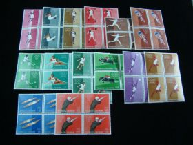 San Marino Scott #456-465,C111-C114 Complete Set Blocks Of 4