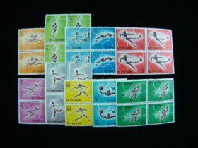 San Marino Scott #572-581 Complete Set Blocks Of 4