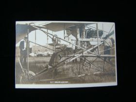 1910 Rare J.C. Bud Mars Real Photo Postcard Sitting In Flyer At Iowa Fair