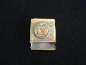 1920's Yosemite National Park Brass Match Book Case