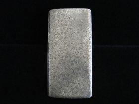 Antique European Art Nouveau Sterling Silver 950 Cigarette Case