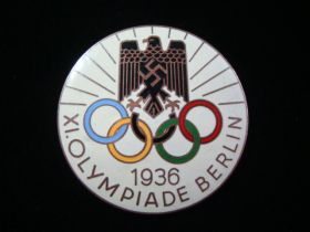1936 Berlin Germany Olympic Summer Games Original Badge Pin H. Osang Dresden