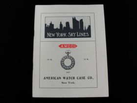 1903 New York Sky Lines View Book By American Watch Case Co. NY