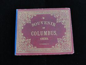 1888 Columbus Ohio Accordion Folding View Book