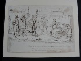 "1859 Thomas Worth Pen Drawing 9.75"" x 7"" ""Atrides In His Camp"""