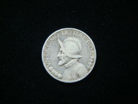 Panama 1932 Silver 1/10 Balboa Very Good