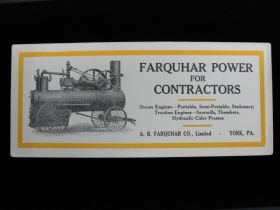 1900-1915 A. B. Farquhar Co.,Limited Large Steam Engine Advertising Blotter