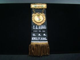 1890's G.A.R. Post 241 Kinsley Kansas Ribbon Badge