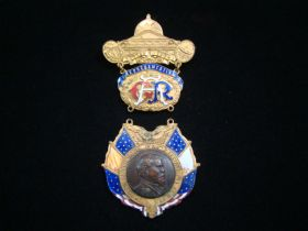 1904 G.A.R. Badge Boston Mass 38th National Encampment