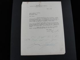 1922 Lieut. James H. Doolittle Signed Letter Kelly Field TX Rare Early Autograph