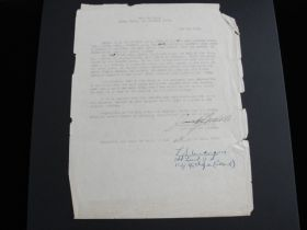 1922 LT James H. Doolittle Signed Crash Letter Kelly Field TX Rare Autograph
