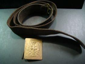 "1930's-40's Spanish Civil War Army Dress Belt & Buckle ""LOGRONO"""