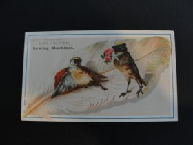 1880's Helpmate Sewing Machines Lithograph Victorian Trade Card