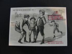 1880's R.H. Grinstead Blythdale MO Henderson's  Lithograph Victorian Trade Card