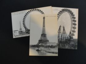 1900 Universal and International Exhibition in Paris Group Of 3 Postcards