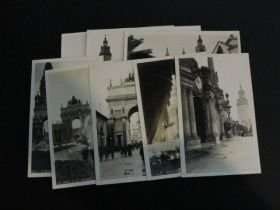 1915 Panama–Pacific International Exposition Group Of 8 Real Photo Postcards