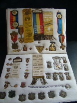 19th & Early 20th Century Knights of Pythias Medals,Pins,Ribbons Collection