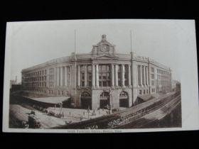 1907-1910 South Terminal Station, Boston Massachusetts Embossed Postcard