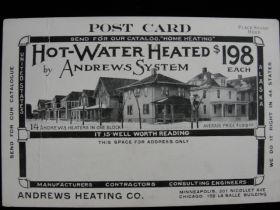 1906-08 Andrews Heating Co Minneapolis, MN Minnehaha Falls Advertising Postcard
