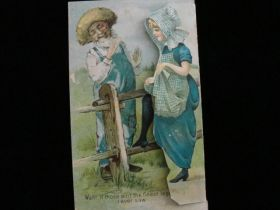 1890's Hettermann Bros Co Louisville KY Metamorphic Lithograph Action Trade Card