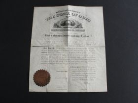 1870 Rutherford B. Hayes Signed Document OH Gov't