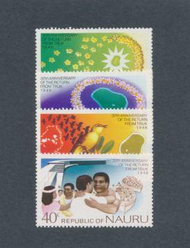Nauru Scott #134-137 Complete Set