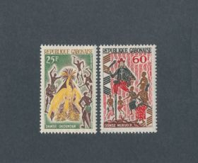 Gabon Scott #184-185 Complete Set