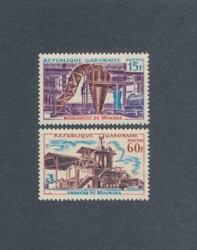 Gabon Scott #181-182 Complete Set