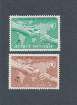 U.N. Vienna Scott #33-34 Complete Set