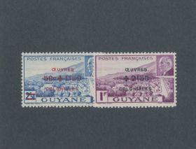 French Guiana Scott #B11a-B11b Complete Set