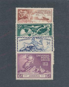 Jamaica Scott #142-145 Complete Set