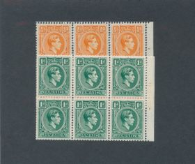 Jamaica Scott #148a-149a Booklet Panes Of 6