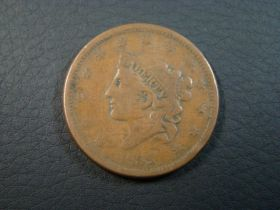 1838 Coronet Head Large Cent Large Date VG 40728