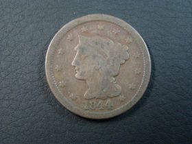 1844 Braided Hair Large Cent Good+ 70728