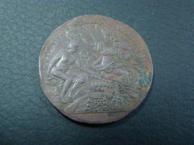France 1889 Exposition Universelle Souvenir Bronze Medal By N.J. Schloss & Co.