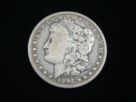 1892-O Morgan Silver Dollar VF 10510