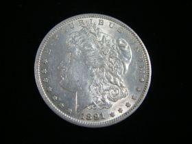 1891-S Morgan Silver Dollar AU+ 40510
