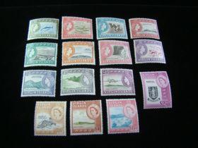 Virgin Islands Scott #144-158 Set Mint Never Hinged