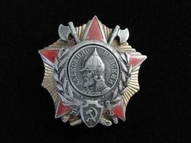 Original Order of Alexander Nevsky Soviet Medal #10371