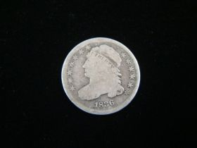 1836 Capped Bust Silver Dime VG 10513