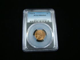1936-D Lincoln Cent PCGS Graded MS65RD #42193979