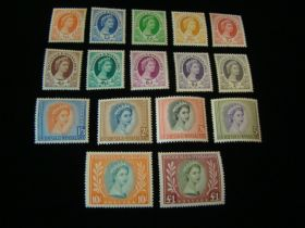 Rhodesia & Nyasaland Scott #141-155 Set Mint Never Hinged